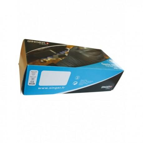 Gants Nitrile noirs non poudrés à usage unique (100 paires) EN 374