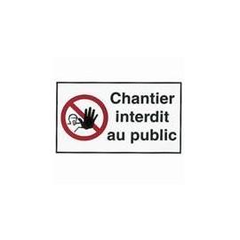 Étiquette Chantier interdit au Public 18 x 30 cm