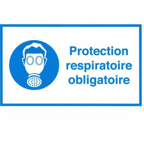 Étiquette protection respiratoire obligatoire