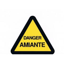 Étiquette DANGER AMIANTE 20 X 20 cm