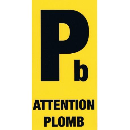 Étiquette Attention Plomb 10 x 20 cm
