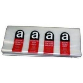 Sac déchet marqués 730 x 1200 transparent imprimé Amiante (carton de 100)