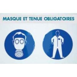 panneau masque et tenue obligatoire 600 x 400