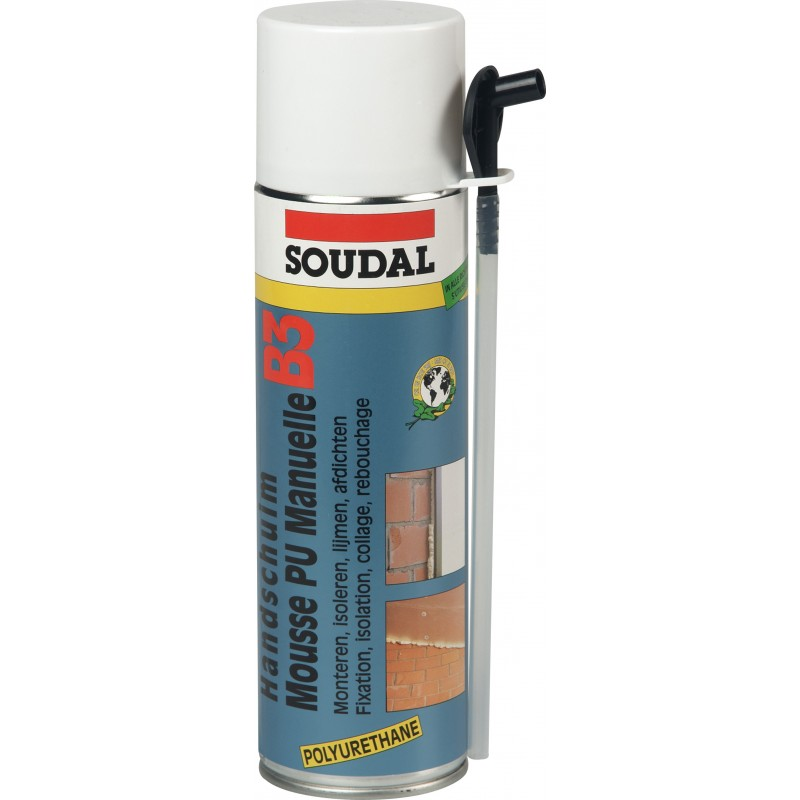 bombe de mousse polyur thane soudal 500 ml
