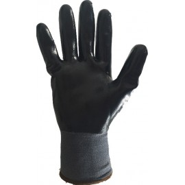 12 Gants de manutention Amiante Nylon enduit Nitrile noir EPIGLOVES XL